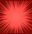 comic red abstract background vector image vector image