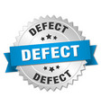 defect round isolated silver badge vector image vector image