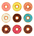 donut isolated vector image vector image