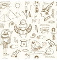 Egypt symbols seamless pattern Sketches vector image