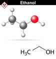 Ethanol molecular structure vector image vector image