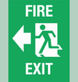 fire exit sign eps10 vector image vector image