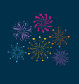 fireworks bursting in glowing multi colours on vector image vector image