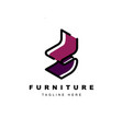 furniture logo designsymbol and icon chairs vector image vector image