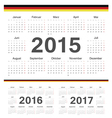 german circle calendars 2015 2016 2017 vector image vector image