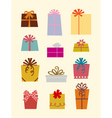 gift boxs vector image vector image