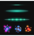 Glow stick line effect set vector image