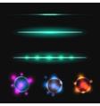 glow stick line effect set vector image vector image
