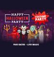 halloween vampire dracula zombie devil wizard vector image vector image