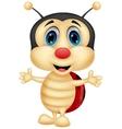 Happy ladybug cartoon