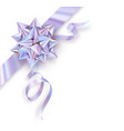 holographic foil gift bow isolated on white vector image vector image