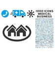 Houses Area Icon with 1000 Medical Business vector image vector image