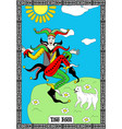 joker card taro vector image vector image