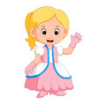 Kids girl princes cartoon vector image