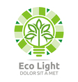 lamp eco light bulb design icon vector image vector image