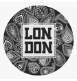 London T-shirt with floral ornament vector image