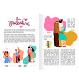 love hugs infographics vector image