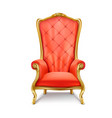 luxurious royal red throne realistic vector image vector image