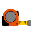 measuring tape tool flat on vector image vector image