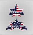 memorial day back with stars vector image vector image