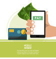 mobile payment technology vector image vector image