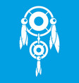 native american dreamcatcher icon white vector image vector image