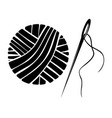 needle and yarn ball vector image