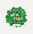 new year sale flyer template with realistic vector image vector image