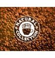Premium quality coffee typography on blur