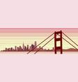 san francisco scene beautiful panoramic banner vector image