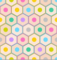 seamless pattern with colorful pencil ends on gray vector image vector image