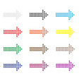 set dot arrows icon on white background flat vector image vector image