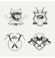 set extreme sports emblems badges labels and vector image vector image