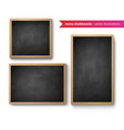 set isolated menu boards vector image vector image