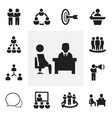 Set of 12 editable community icons includes