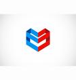 shape 3d company logo vector image vector image