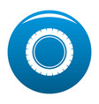 single tire icon blue vector image vector image