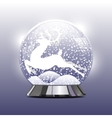 snow globe with a Christmas vector image