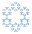 Snowflake Flake of snow vector image vector image