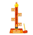 Strength tester Test your strength amusement game vector image vector image