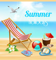 summer holidays realistic composition vector image vector image