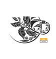tea cup symbol black vector image