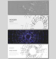 the minimalistic layout of headers banner vector image vector image
