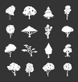 trees icons set grey vector image vector image