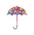 umbrella sign icon rain protection symbol flat vector image