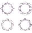 vintage circle frame vector image vector image