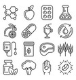 vitamin and sport supplements pill icons set vector image