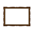 Wooden and gold frame for paintings isolated vector image vector image