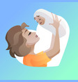 young mother with baby in her hands vector image vector image