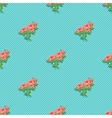 Seamless pattern with a bouquet of roses Vibrant vector image